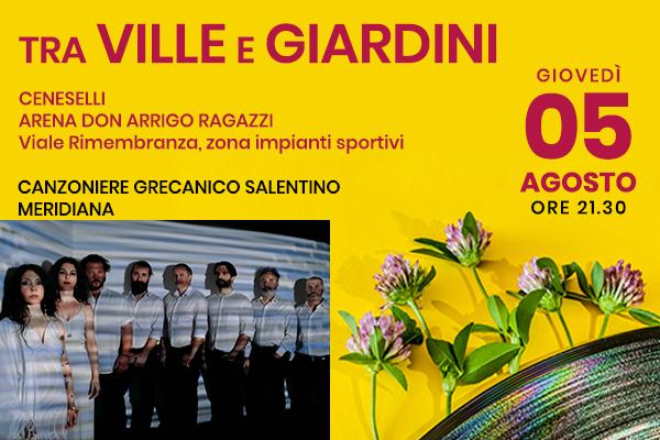 Canzoniere Grecanico Salentino Meridiana- Arena Don Arrigo Ragazzi - Cenesello (RO)