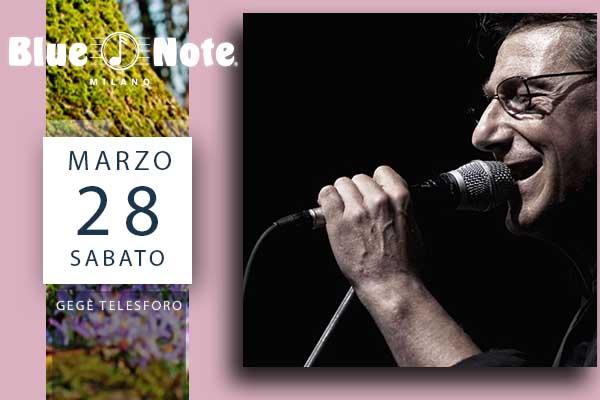 Biglietti - GeGè Telesforo - Blue Note - Milano