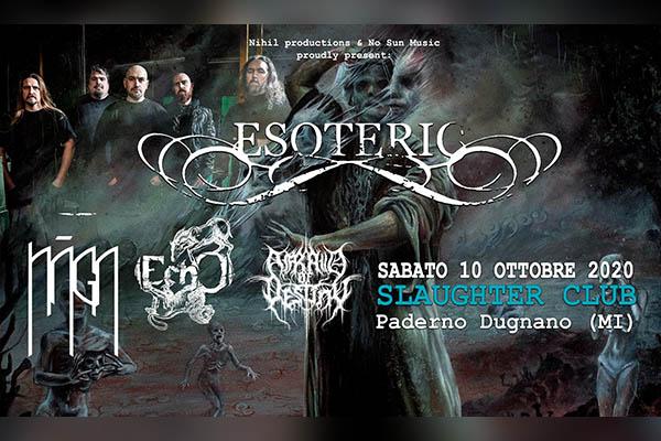 Biglietti - Esoteric - Slaughter Club - Paderno Dugnano (MI)