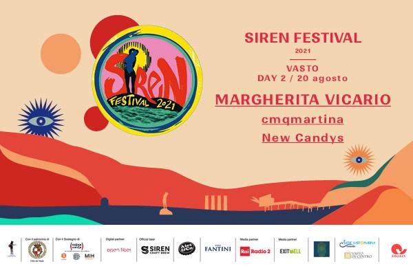 Biglietti - Siren Fest 2021 - Vasto - Margherita Vicario - cmqmartina