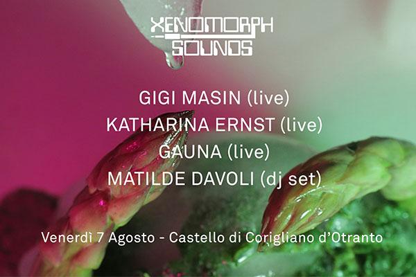 Biglietti - Xenomorph Sounds - gigi masin Castello Corigliano d'Otranto lecce