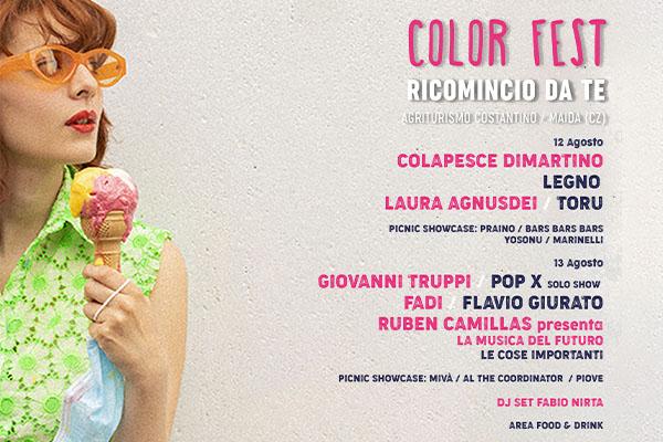 Abbonamento - Color Fest 2020 - Agriturismo Costantino - Maida