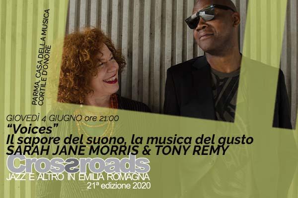 Biglietti - Sarah Jane Morris & Tony Remy - Casa della musica - Parma