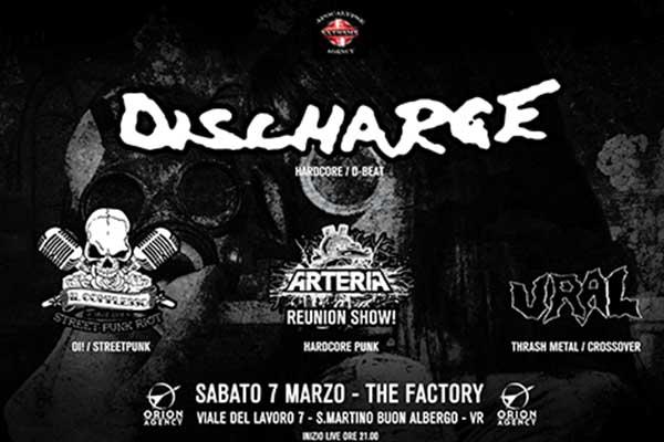 Biglietti - Discharge - The Factory - (VR)