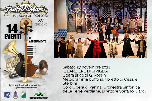 Il Barbiere di Siviglia - Teatro dei Marsi - Avezzano (AQ)