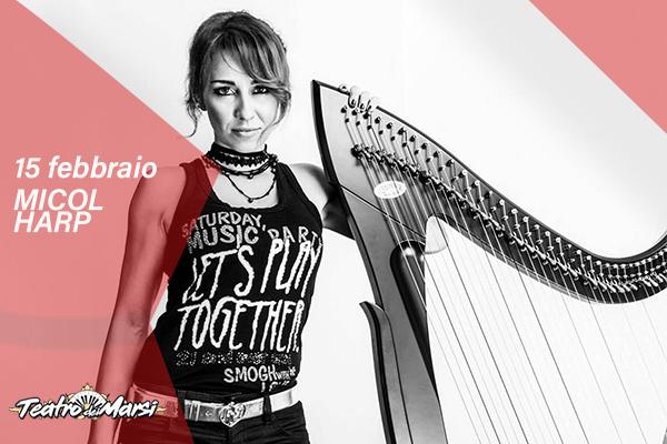 Micol Harp, arpa rock - Teatro dei Marsi - Avezzano (AQ)