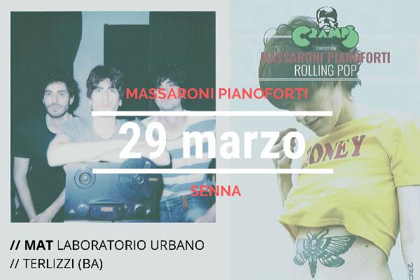 Biglietti -Massaroni Pianoforti + Senna - Arena MAT - Terlizzi (BA)
