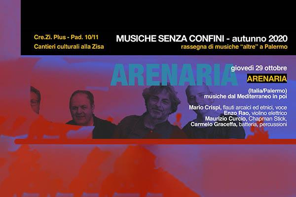 Biglietti - Musiche Senza Confini - Arenaria - Cre.Zi Plus - Palermo