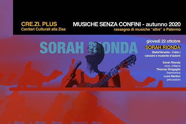 Biglietti - Musiche Senza Confini - Sorah Rionda - Cre.Zi Plus - Palermo