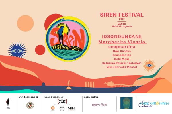 Siren Fest 2021 - Cortile D'avalos - Piazza del Popolo Vasto (CH)