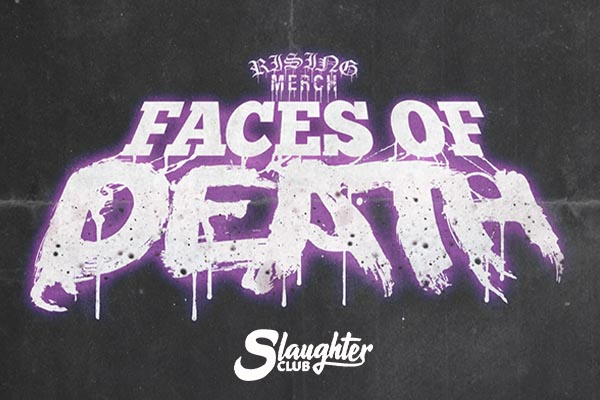 Rising Merch Faces Of Death Tour 2021 - Slaughter Club Paderno Dugnano Milano