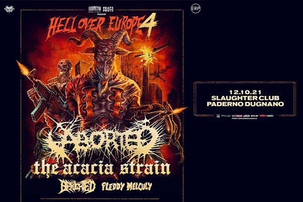 Aborted - Acacia Strain - Benighted - Guest | Slaughter Club Milano Biglietti