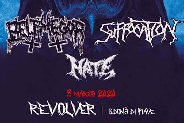 Biglietti - Suffocation + Belphegor + Hate - Discoteca Revolver (VE)