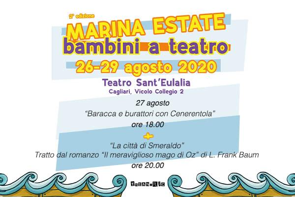 Abbonamento - Marina Estate 27/08/2020 - Teatro Sant'Eulalia - Cagliari