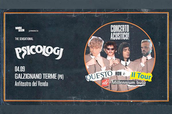Psicologi live biglietti - Anfiteatro del venda Galzignano padova