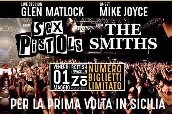 Biglietti - Glen Matlock/Sex Pistols-Mike Joyce/The Smiths - Zo Catania