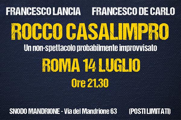 Biglietti - Rocco Casalimpro - Snodo Mandrione - Roma