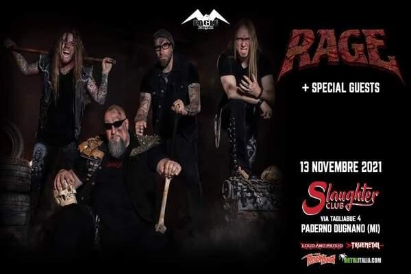 Biglietti - Rage live in Milano - Slaughter Club
