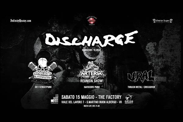 Biglietti - Discharge - The Factory - San Martino Buon Albergo Verona