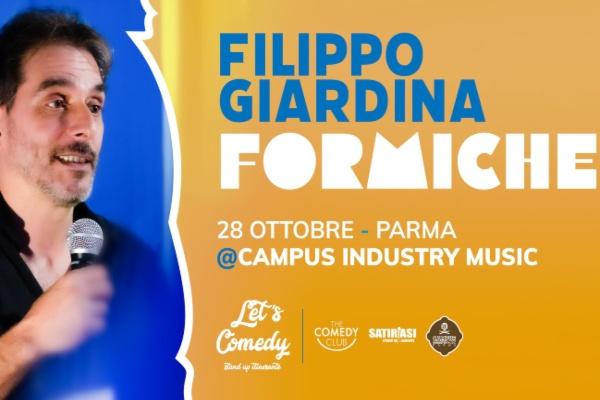 Biglietti - Filippo Giardina - Formiche - Campus Industry - Parma (PR)